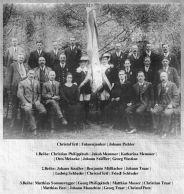 Der MGV mit Fahnenpatin 1926