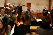Gemeinsames Einsingen mit der Singgemeinschaft Weißensee
